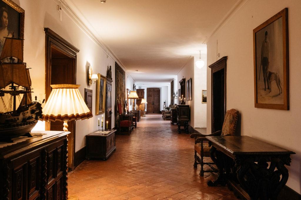 Vue intérieure du château de grandson