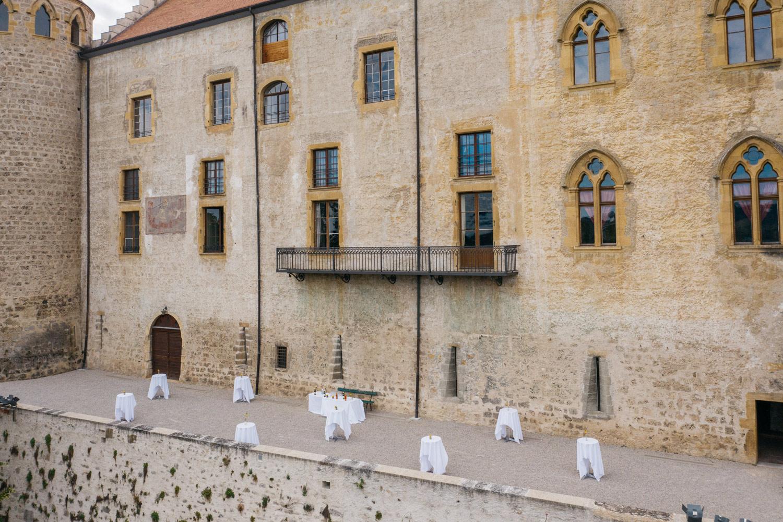 Terrasse Sud du Château de Grandson