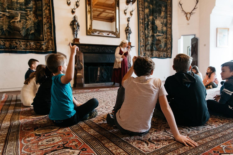Activités d'enfants au chateau de Grandson